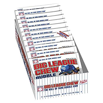 The Official Big League Chew Original Bubble Gum + Tray  12 Packs  with a Big League Chew Authenticity Seal  Package may vary