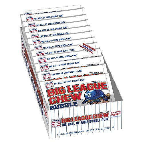 The Official Big League Chew Original Bubble Gum + Tray (12 Packs) with a Big League Chew Authenticity Seal (Package may vary)
