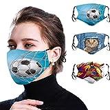 Pañuelo facial transpirable para adultos con impresión rápida, protección contra el viento, protector solar para montar al aire libre.