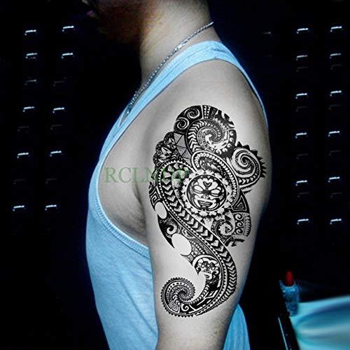 Pegatinas de tatuaje a prueba de agua Pinzas Brazo trasero Pierna Abdomen Tallas grandes Mujer Chica Hombre En tatuaje Belleza