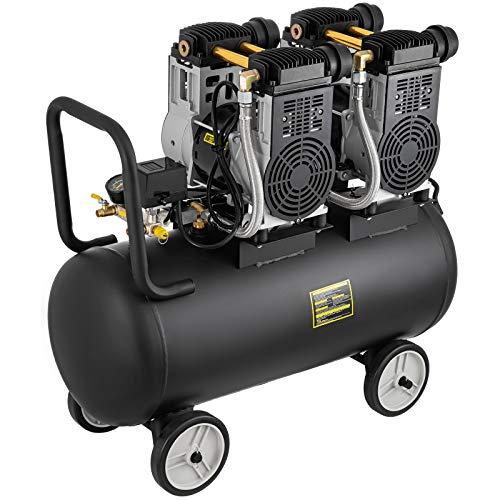 Bisujerro Compresor de Aire 3200W 70L sin Aceite Compresor Aire Silencioso Compresor Aire Coche 65DB 8Bar