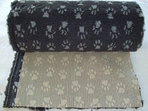 PnH Veterinary Bedding Tapis vétérinaire antidérapant - 5metre x 76cm - Paws Charbon