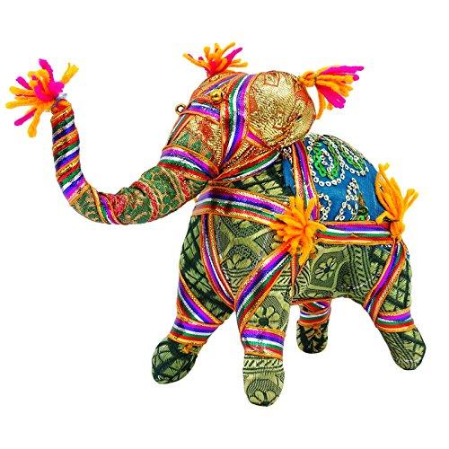 Traditionelle Handgemachte Stuffed Elephant Rajasthan Craft Tischdekoration Indische Kunst