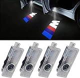 LED Door HD Laser Projectors Car Ghost Shadow Welcome Step M Logo Emblem LED Light 4pcs