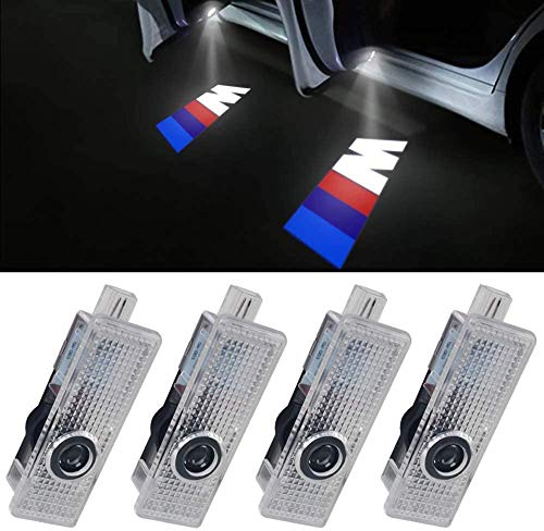 LED Door HD Laser Projectors Car Ghost Shadow Welcome Step M Logo Emblem LED Light 4pcs