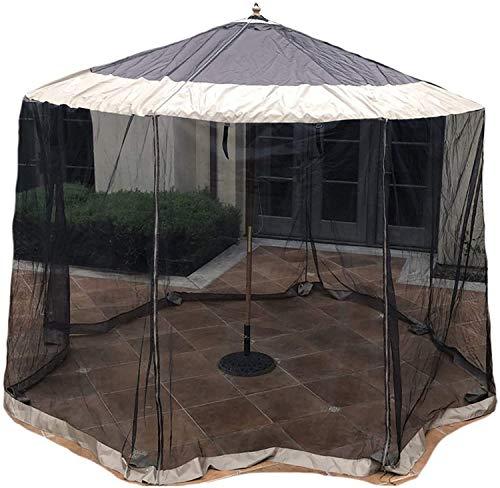 Gartenschirm Fliegengitter Netting Fit 9Ft zu 11ft Markt oder Hänge Cantilever Regenschirme, für Gärten, Terrassen zu verhindern Mückenstiche