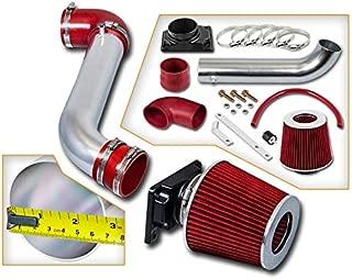 Rtunes Racing Short Ram Air Intake Kit + Filter Combo RED Compatible For 01-05 Dodge Stratus / 00-05 Mitsubishi Eclipse / 99-03 Mitsubishi Galant