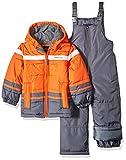 LONDON FOG Boys' Toddler 2-Piece Snow Pant & Jacket Snowsuit, Orange, 2T