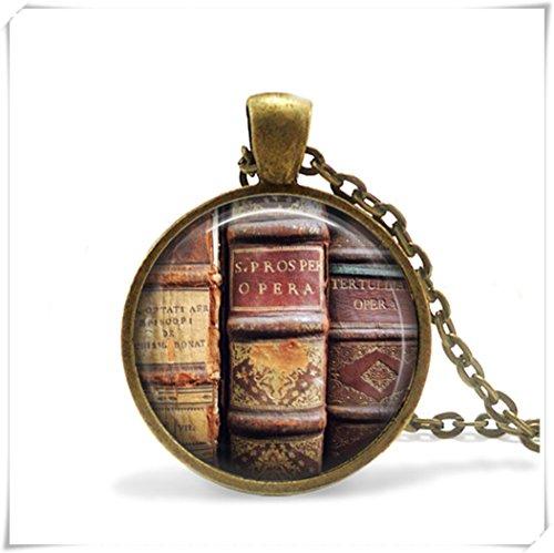 Old Book Halskette, Geschenk für Schriftsteller, antik style Book Schmuck, Writer Buch Anhänger, Writer Halskette Geschenk für Leser,