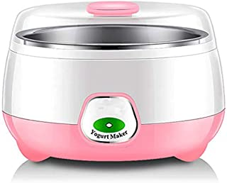 WGNHM Yogurt machine,Automatic Yogurt Maker Machine with Constant Temperature Control,Stainless Steel Design (Color : Pink)