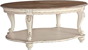 Signature Design by Ashley - Realyn Coffee Table, White/Brown Wood