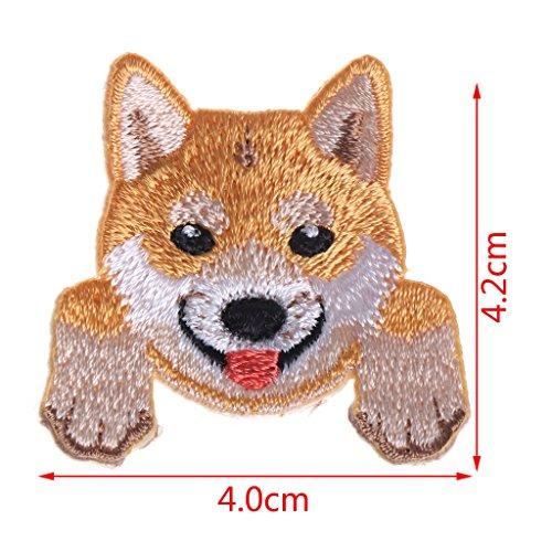 Haptian schattig hond patch baby kleding patches rugzak decoratie kleine Applique ijzer