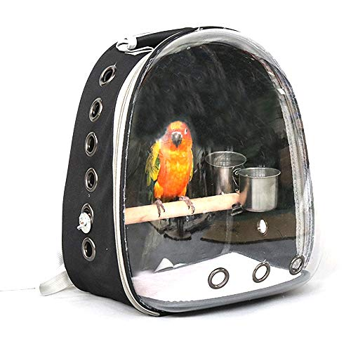 Wenzhihua Lightweight Pet Parrot Out Backpack Take-out Cage Bird Cage Parrot Out of The Box Bird Carrying Case Out of Cage Pet Travel Carrier Bag Pet Travel Carrier Bag Travel