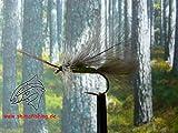 Trockenfliegen 'High Rider Sedge Olive' CDC, 3er Set, Hakengröße 12