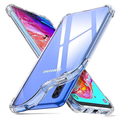 "ORNARTO Coque Samsung A70, Clair Protecteur Housse Anti-Choc Anti-Scratch Bumper Silicone Cover Cases Bumper pour Samsung Galaxy A70(2019) 6,7"" Transparente"