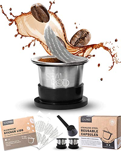 stainless steel refillable coffee pod for Nespresso