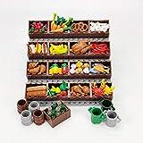 GUDA Juego de accesorios para comer, piezas de construcción creativas para alimentos, juguetes para niños, compatibles con figuras Lego, sin expositor