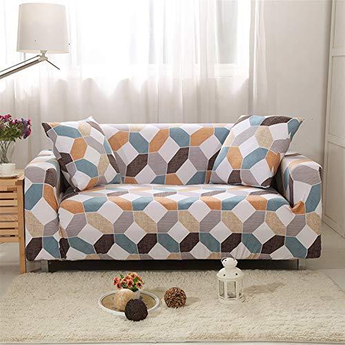 Spandex Slfcover Sofá Sofá geométrico elástico Cubierta de sofá Universal Cubierta de sofá para sofá para Sala de Estar sofá Funda (Color : Color 19, Specification : 2 Seater 145 185cm)