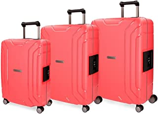 """MOVOM Suitcases Set, Red, 75cm/29.7"""""""