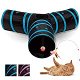 All Prime Cat Tunnel - Toys for Cats - Cat Tunnels for Indoor Cats - Cat Tube -...
