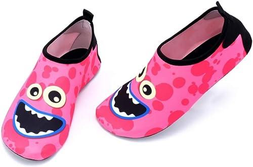 XOVUD Chaussures d'eau Séchage Rapide de Natation pour Enfants, Chaussures de Sport, Chaussures de Ville, Chaussures de Surf, Chaussures de Surf pour Plage, Piscine, Garçon, Chaussures de mer