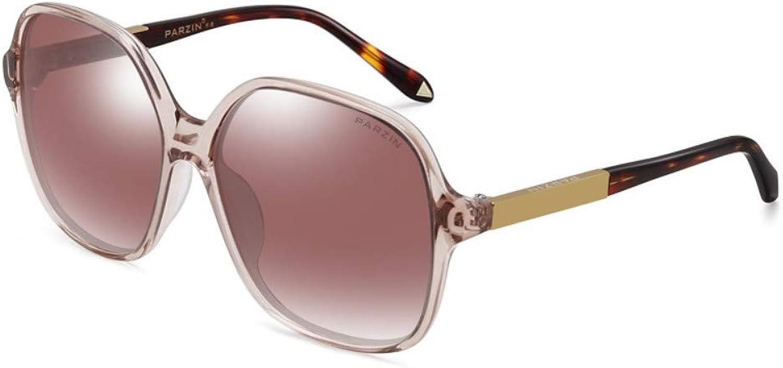 Fashion Big Box Round Face Sunglasses Female Driver Driving Polarized Driving Mirror Bright Sunglasses Brown