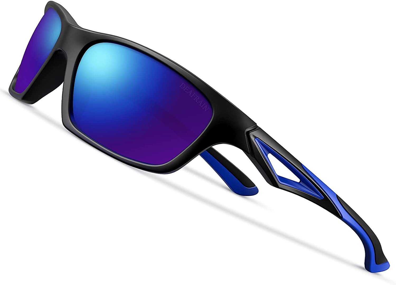 Kids Polarized Sunglasses TPEE Unbreakable Flexible Sport Glasses UV Protection for Boys Girls Age 3-7