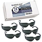 24 Pack of Tinted Safety Glasses (24 Protective Shaded Safety Sunglasses) UV Resistant Eye Protection - Perfect for Construction, Shooting, Lab Work, and More!