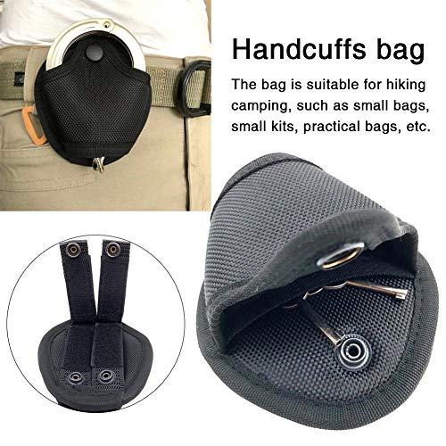 Getherad draagbare handboeien tas multifunctionele kleine heuptas mini opbergtas, zwart, 4,13 x 4,72 x 2,36 in ragkable