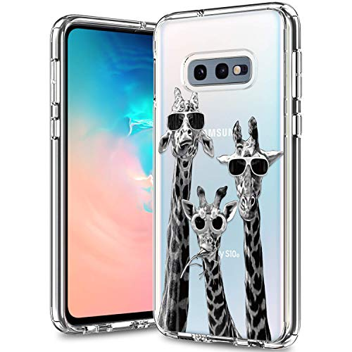 BICOL Galaxy S10e Case Clear with Design for Girls Women,12ft Drop Tested,Military Grade Shockproof,Slim Fit Protective Phone Case for Samsung Galaxy S10e Cool Giraffe-133