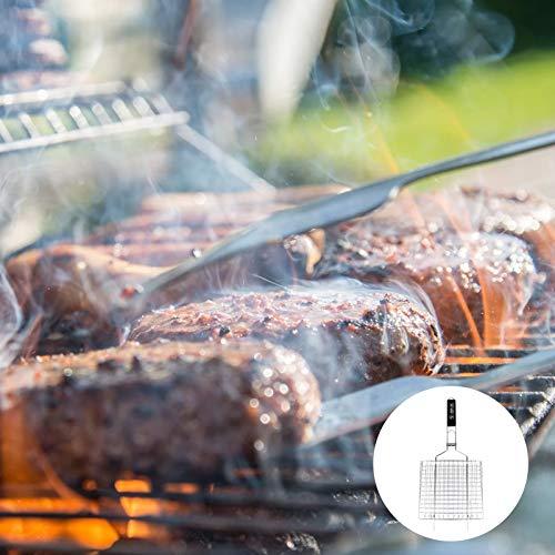 iplusmile 焼き網ハンドル 焼き魚 バーベキュー用品 屋外バーベキューピクニック ステンレス鋼