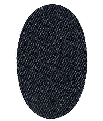 Haberdashery Online 6 Rodilleras Tejano Oscuro termoadhesivas de Plancha. Coderas para Proteger tu Ropa y reparación de Pantalones, Chaquetas, Jerseys, Camisas. 16 x 10 cm. RT22 Tejano Claro