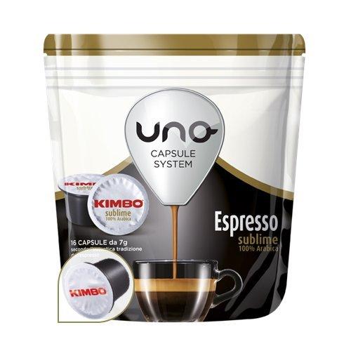 192 Cialde Uno Capsule System Kimbo Espresso Sublime 100% Arabica Originali