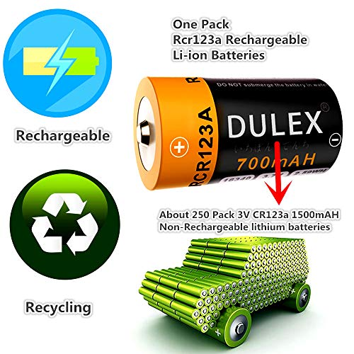 DULEX 8 Pack Rechargeable Batteries for Arlo, Compatible with Camera VMC3030 3200 3330 3430 3530 Wireless Security Cameras