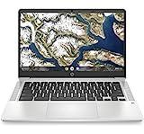 HP Chromebook 14a-na0001ns - Ordenador portátil de 14' HD (Intel Celeron N4000, 4 GB RAM, 64 GB eMMC, Intel UHD Graphics 600, Chrome OS) Gris - Teclado QWERTY Español