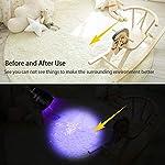 Waklyte Black Light, Mini UV Flashlight, 21 LED 395 nm Ultraviolet Blacklight Detector for Dog Urine, Pet Stains and Bed Bug (Battery Included) 16