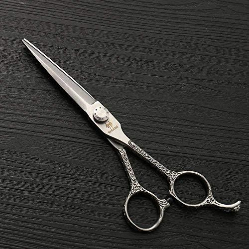 ZGQA-GQA Tijeras de peluquería 6 Pulgadas Peluquería Especial Plana Shear, 440C Gama Alta Pelo Tijeras de Las podadoras (Color: Plata)