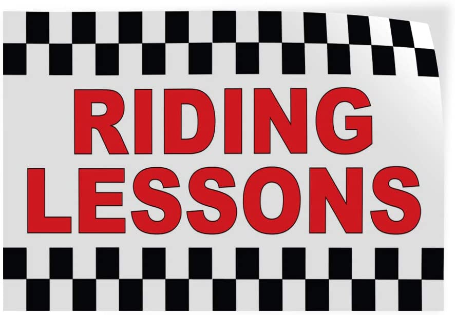 Recommended Decal Stickers Multiple Sizes Max 67% OFF Riding Red Viny Lessons Industrial