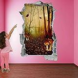 Pegatinas de pared Hada bosque rojo setas fantasía etiqueta de la pared mural calcomanía decoración de la habitación de los niños Pegatinas de pared para bebé