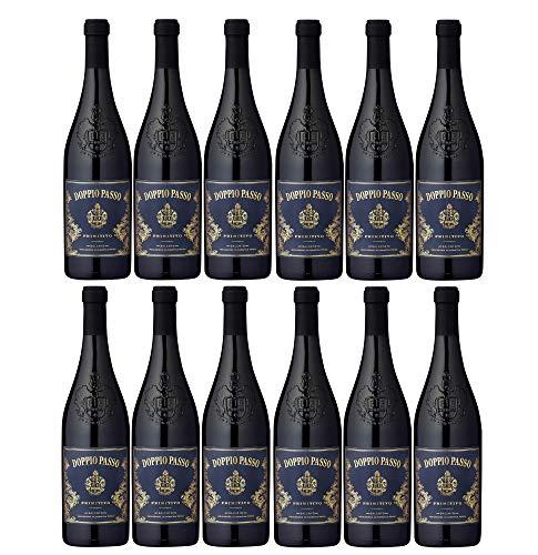 Doppio Passo Primitivo Salento Rotwein veganer Wein trocken IGT Italien (12 Flaschen)