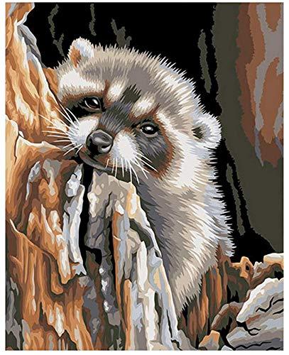 N/ A DIY digitale schilderkunst, otter dier acryl schilderij muur kunst canvas schilderij huisdecoratie unieke geschenken voor kinderen en volwassenen