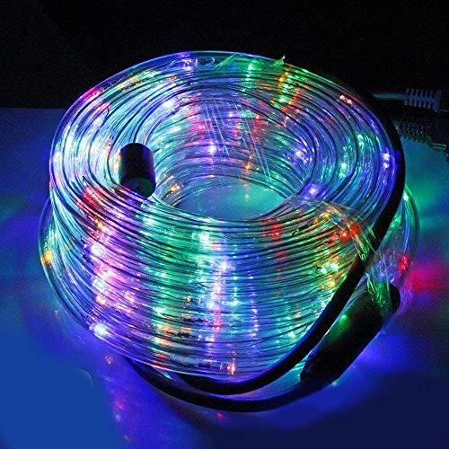 Tubo Luminoso a LED per Natale luci natalizie per Esterno e Interno impermeabile 30 metri 720 LED luce MULTICOLOR con controller 8 Giochi di Luce