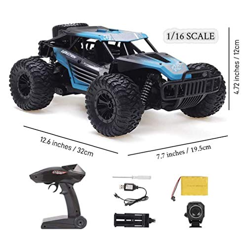 HGYYIO 20Km/H High Speed Monster Trucks with 720P HD FPV Camera 2.4Ghzradio Control 1:16 Off-Road Remote Contorl Vehicle,for Children & Adult Best Xmas Gift