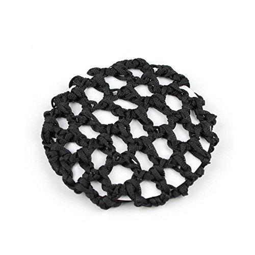 Praktisches Duttnetz/Haarnetz für tolle Frisuren aus Stoff (schwarz) 020-00226