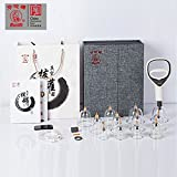 Med SPA Care Handheld Vacuum Cupping Set Chinese Cupping Machine No Fire Cupping Kit TCM Health-Cultivation Acupuncture Therapy Massage Cupping for Back Pain, Lose Belly Fat Fast(High-End 12-Cups Set)
