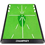CHAMPKEY Tracker-PRO Impact Golf Hitting Mat | Analysis Swing Path and Correct Hitting Posture Golf Practice Mat | Advanced Guide and Rubber Backing Golf Training Mat