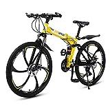 MATTE Folding Adult Mountainbike, 26 Zoll 21 Gang-Doppelscheibenbremse Fahrräder mit High Carbon Stahlrahmen, Voll MTB Federung, Outroad Racing Radfahren