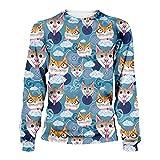 El Animal Lindo Gato de Color Amor Muchos Gato y Perro Sudaderas 3D / Camiseta de Invierno Harajuku otoño Sweatshirt XS