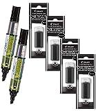 Refillable Dry Erase Markers, Pilot V Board Master, 2 Black Ink Bullet Tip Low Odor Markers with 4 Refills,