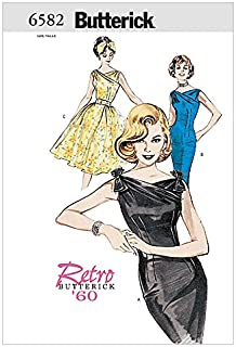 Butterick Ladies Sewing Pattern 6582 Vintage Style Dresses & Belt